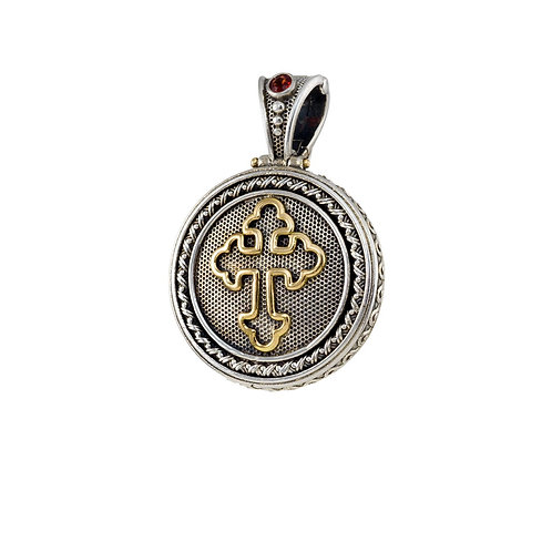 Pendant in 18K Gold and Sterling Silver