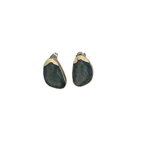 Σκουλαρίκια από χρυσό 18Κ και ασήμι 925˚