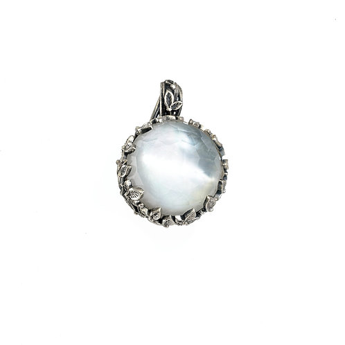 Pendant in Sterling Silver with Doublet Stones