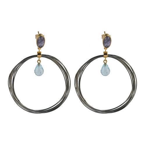 Σκουλαρίκια από ασήμι 925˚ με ντουμπλέτες