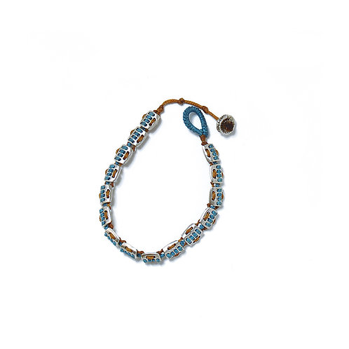 Ethnic Bracelet with Silver Elements