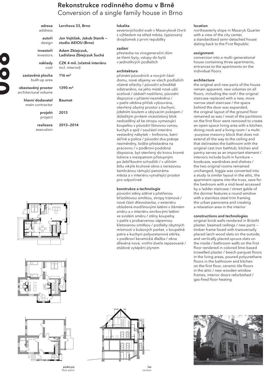 Ročenka české architektury 2013/2014 - studio AEIOU