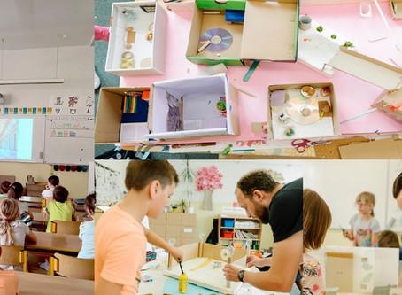 Workshop o architektuře s dětmi, tentokrát na ZŠ Gajdošova v Brně