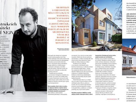 Rozhovor s Janem Vojtíškem v časopise Dům&Zahrada