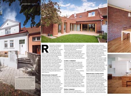 Rekonstrukce rodinného domu v Brně v časopise Můj dům