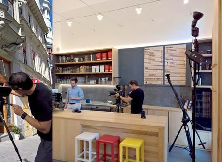 Z natáčení Monogram espresso baru v Brně