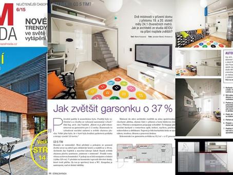 Rekonstrukce bytu v Brně v časopise Dům&Zahrada