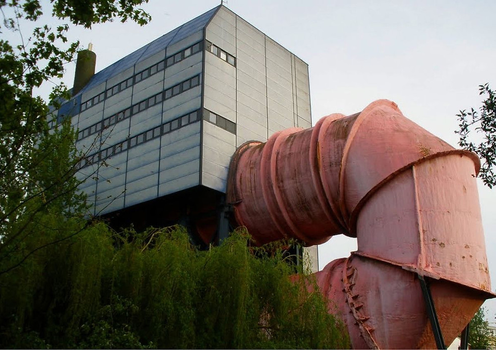 Průtokový kanál ústavu vodního stavitelství - Berlín, Ludwig Leo