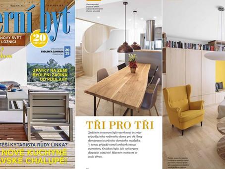 Interiér RD v Brně v časopise Moderní byt