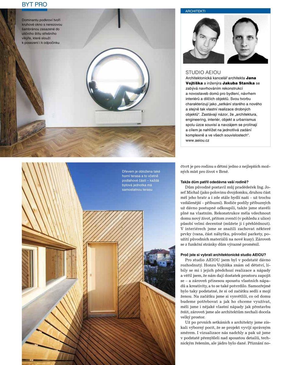 Moderní byt - studio AEIOU