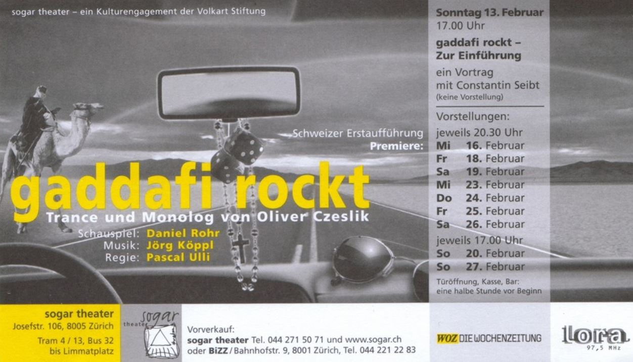 GADDAFI ROCKT - 2005