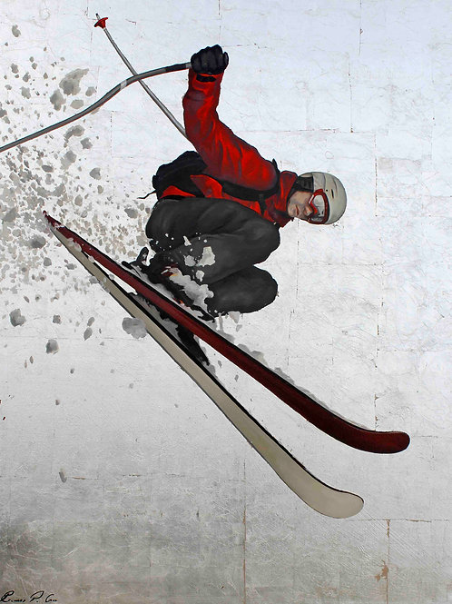 """Limited Edition Print """"Red Skier"""""""