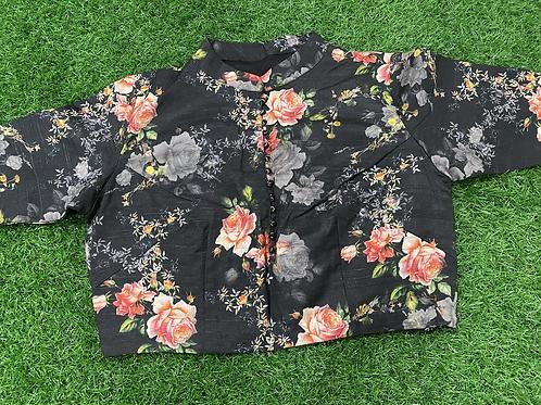 Floral Printed Tassar