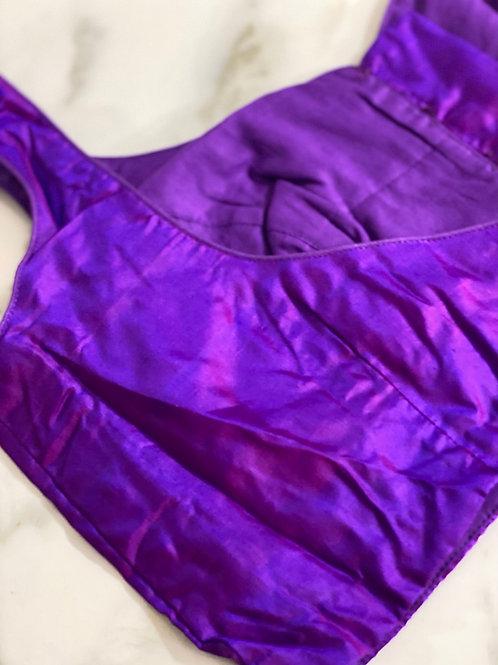Dual shaded pure silk