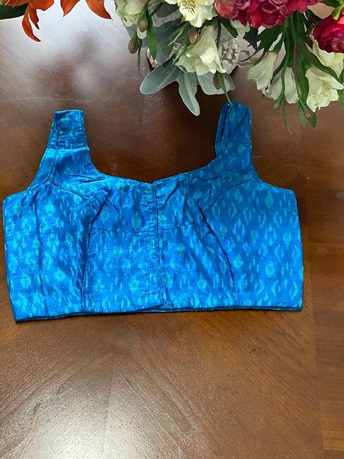 Azure Blue Ikkat