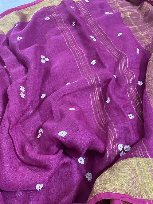 Sheuli on  pink Linen