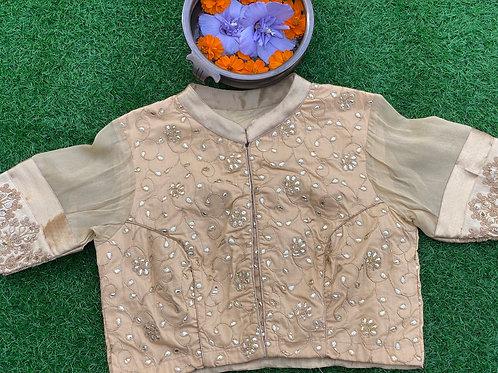 Gold Goyenda ginni blouse