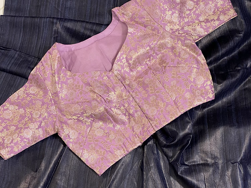 Baby Pink Pure silk Brocade