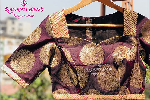 Chocolate Brocade Blouse.