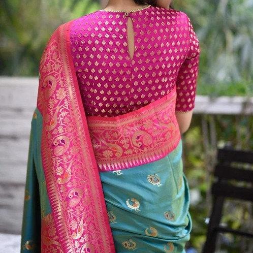Pink Silk Designer Blouse