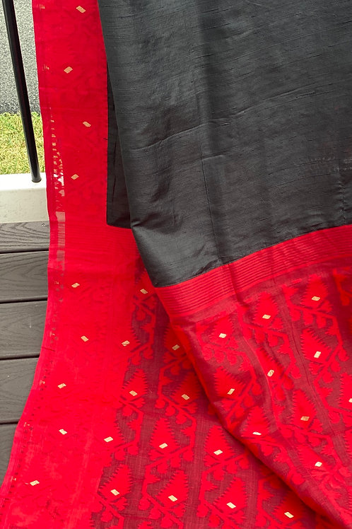 Black Red Jamdani
