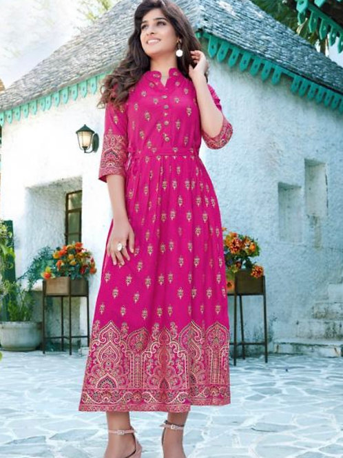 Rayon Casual Wear Long Gowns