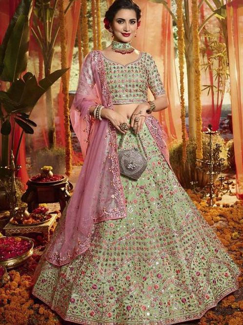 Dolly - Wedding Wear Thread Work Lehenga Choli
