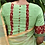 Thumbnail: Lime green with red Kalamkari border.