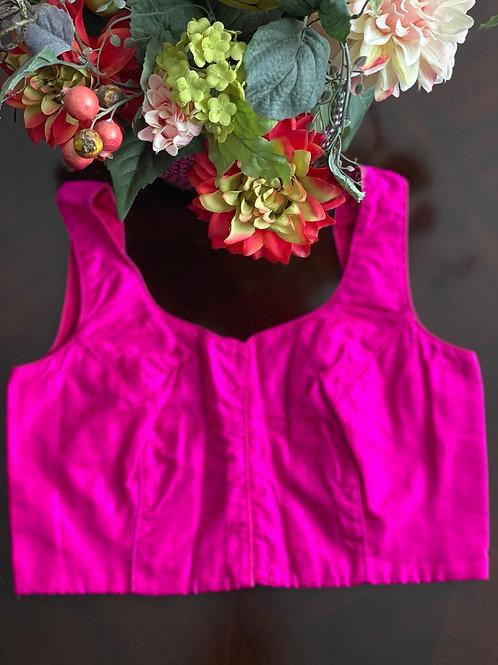Fuchsia pink U backcut