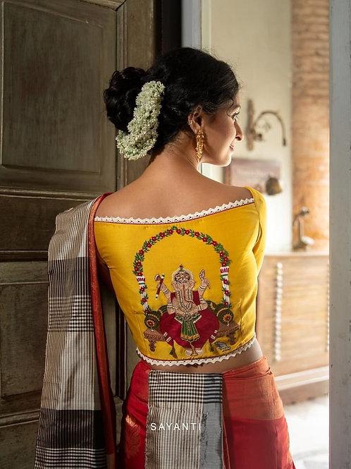 Designer Blouse - Ganesha