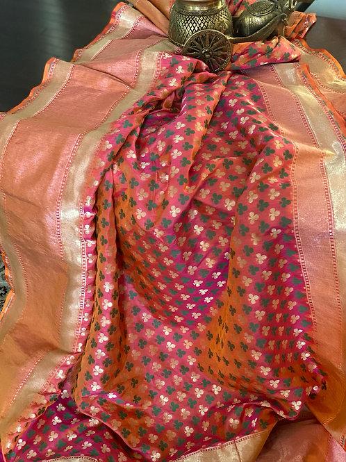 Dual tone pure silk Benarasi
