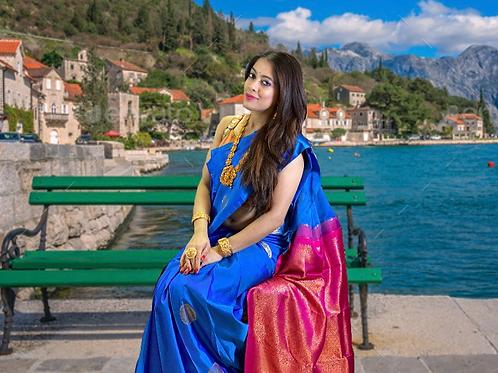Blue Kanjivaram