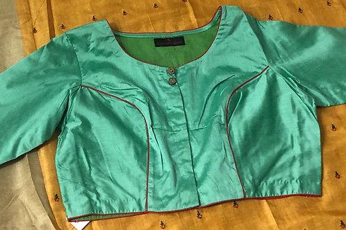 Swadhinotar awaz Green silk cotton