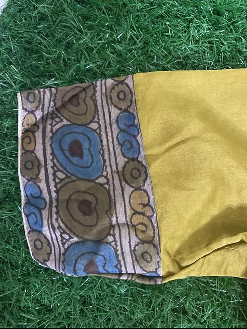 Mustard yellow kalamkari