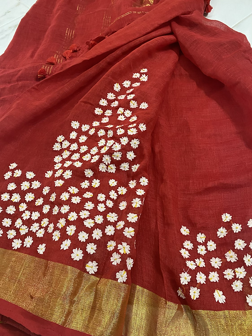 Sheuli on Red Linen