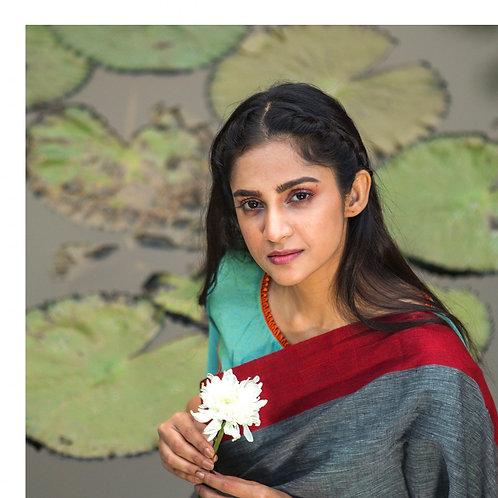 Flurocent geen silk cotton tribal woman
