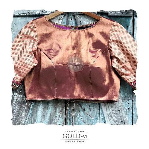 Gold Brocade Blouse.