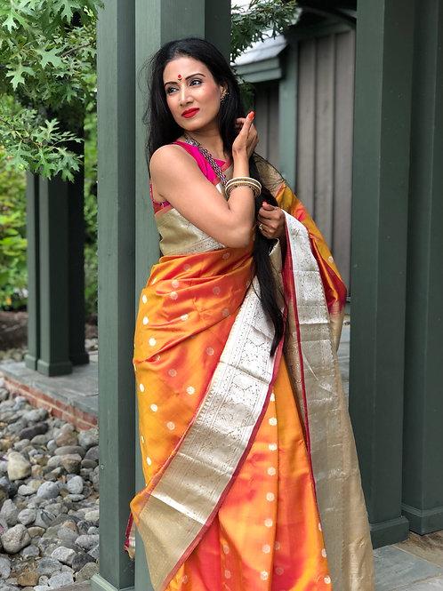 Two toned silk gadwal