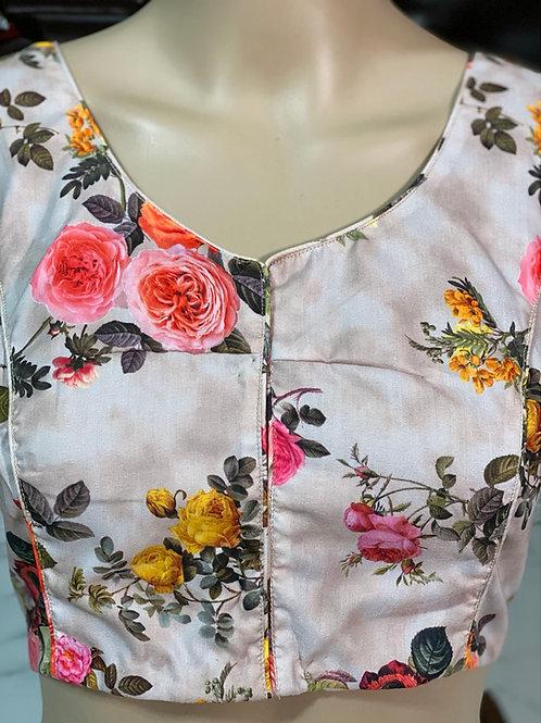 Silk cotton floral