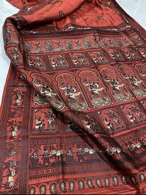 Dark Red Baluchori silk