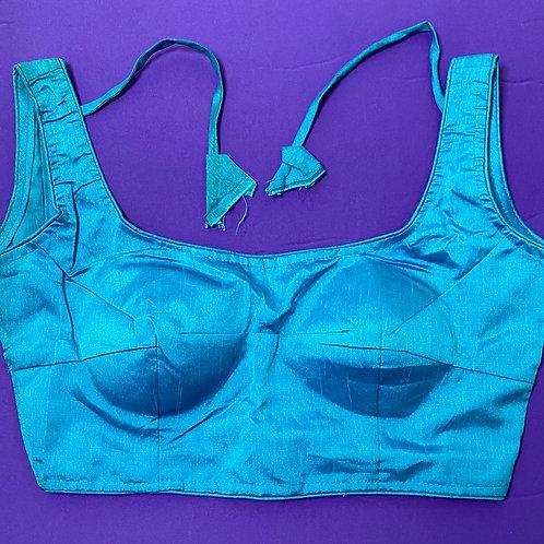 Olympic Blue silk cotton
