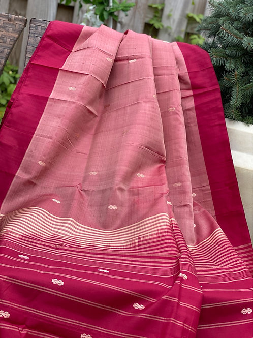 Dual tone pure silk