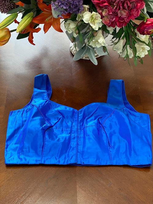 U Cut egyptian  blue dual shaded silk back