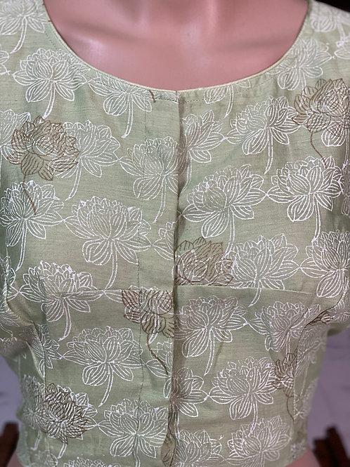 Light Pista green blouse