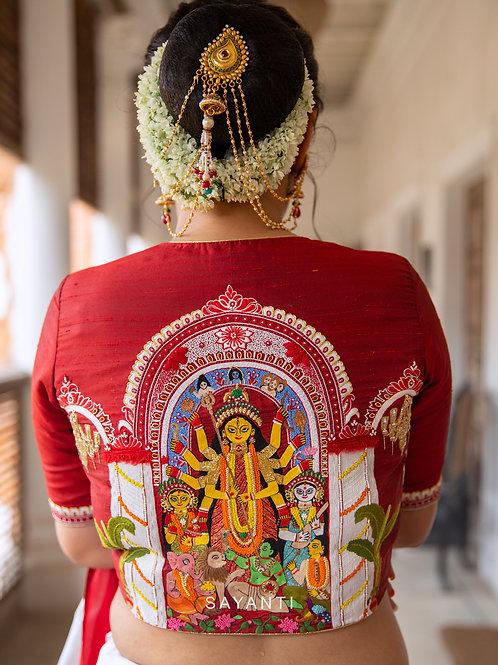 Durga Puja Ashtami Blouse