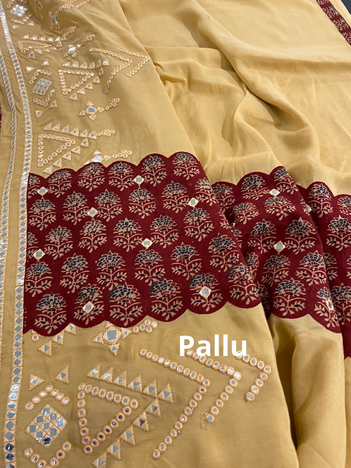 Mulmul cotton Kalamkari Applique