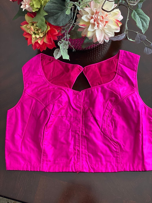 Fuschia pink with oval cut