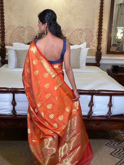 Orange Benarasi