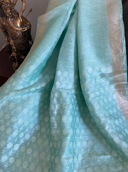 Pastel shade silk linen