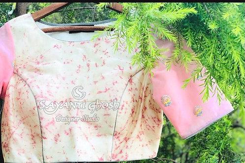 Pink pastel shade blouse .